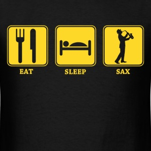 eat sleep sax - Men's T-Shirt
