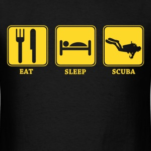 eat sleep scuba diving - Men's T-Shirt
