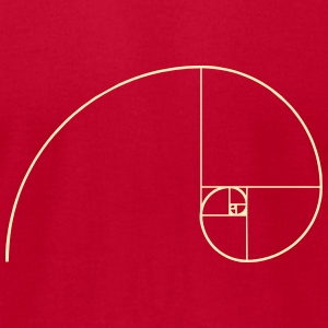 Golden Ratio, Fibonacci, Phi, spiral, geometry T-Shirts - Men's T-Shirt by American Apparel