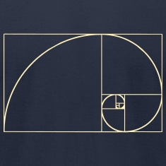Golden Spiral, Golden Ratio, Phi, Fibonacci T-Shirts