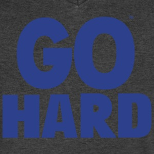 GO HARD T-Shirts - Men's V-Neck T-Shirt by Canvas