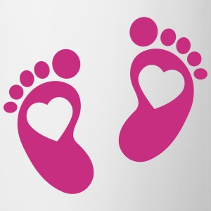 Baby - footprint - heart Bottles & Mugs - Coffee/Tea Mug
