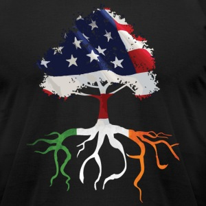 USA Irish Roots Flag Irish Celtic Apparel  T-Shirts - Men's T-Shirt by American Apparel