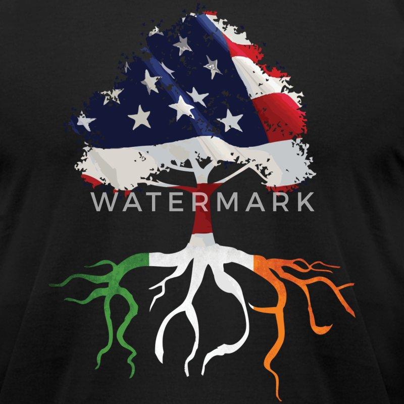 Usa irish roots american irish flag rooted shirts t shirt for Irish canadian tattoos
