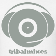 Design ~ Classic Full Size Logo + Tribalmixes text (design 1, Grey)