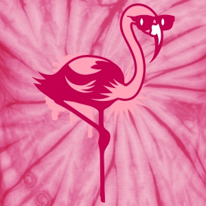 Flamingo with sunglasses T-Shirts - Unisex Tie Dye T-Shirt