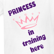 Design ~ PRINCESS IN TRAINING TEE