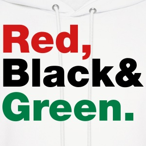 Red, Black & Green. Hoodies - Men's Hoodie