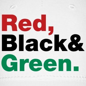 Red, Black & Green. Caps - Baseball Cap