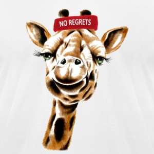 Giraffe No Regrets - Men's T-Shirt by American Apparel