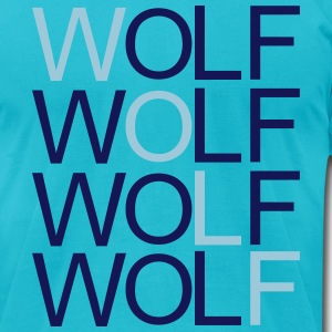 wolf_red T-Shirts - Men's T-Shirt by American Apparel