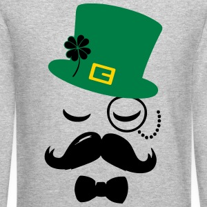 mustache Long Sleeve Shirts - Crewneck Sweatshirt