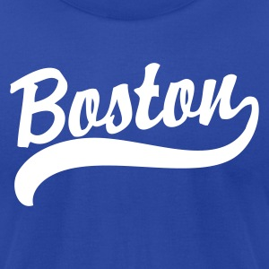 Boston Cursive Back to Beantown T-Shirts - Men's T-Shirt by American Apparel