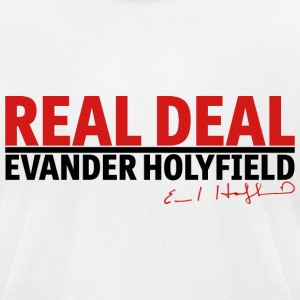 Real Deal Evander Holyfield w/ sig mp T-Shirts - Men's T-Shirt by American Apparel