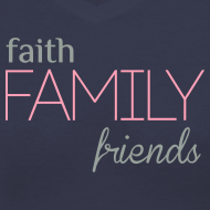 Design ~ Faith, Family, Friends Fitted Tee by Alexis Bellino