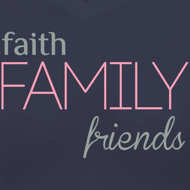 Faith, Family, Friends Fitted Tee by Alexis Bellino