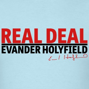 Real Deal Evander Holyfield w/ sig mp T-Shirts - Men's T-Shirt