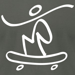 Extreme Skateboarding T-Shirts - Men's T-Shirt by American Apparel