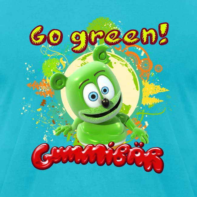 Gummibär (The Gummy Bear) Go Green Earth Day Men's T-Shirt