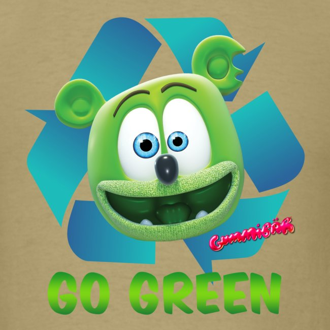 Gummibär (The Gummy Bear) Recycle Earth Day Men's T-Shirt