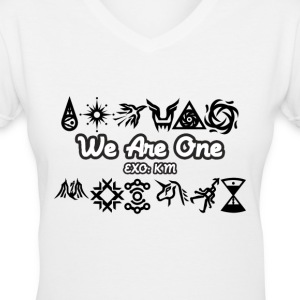 EXO: WE ARE ONE - Symbol Design Women's T-Shirts - Women's V-Neck T-Shirt