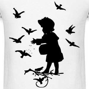 Child with Birds T-Shirts - Men's T-Shirt