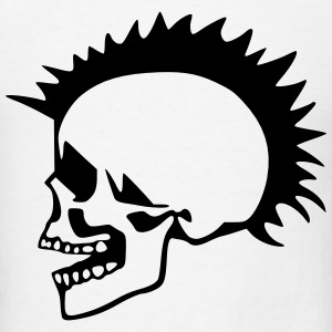 Punk Skull T-Shirts - Men's T-Shirt