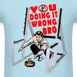 Curling In The Squat Rack T-Shirts - Men's T-Shirt