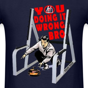 Curling In The Squat Rack. White T-Shirts - Men's T-Shirt