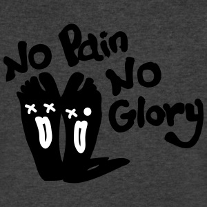 No Pain No Glory sore feet Men's V-Neck T-Shirt by - Men's V-Neck T-Shirt by Canvas