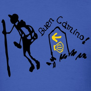 Buen Camino pilgrim Men's Standard Weight T-Shirt - Men's T-Shirt
