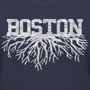 My Boston Roots Back to Beantown Women's T-Shirts - Women's V-Neck T-Shirt