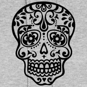 Mexican skull, floral pattern - Days of the Dead Hoodies - Women's Hoodie