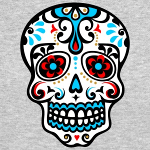 Skull, Mexico, flowers, patterns, skulls, mexican, Long Sleeve Shirts - Crewneck Sweatshirt
