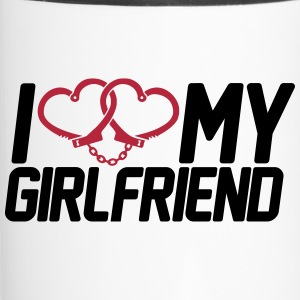 I Love my Girlfriend Bottles & Mugs - Travel Mug