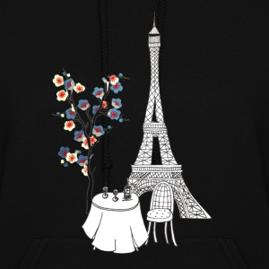 Paris Love Blue Blossom Hoodies - Women's Hoodie