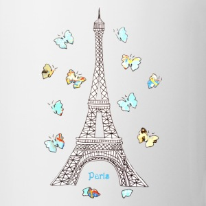 Paris Love Blue Butterflies Bottles & Mugs - Coffee/Tea Mug