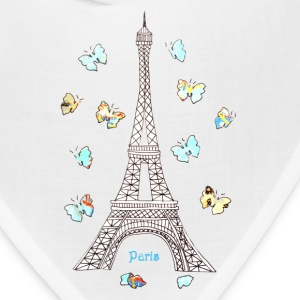 Paris Love Blue Butterflies Caps - Bandana