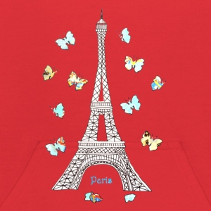 Paris Love Blue Butterflies Sweatshirts - Kids' Hoodie