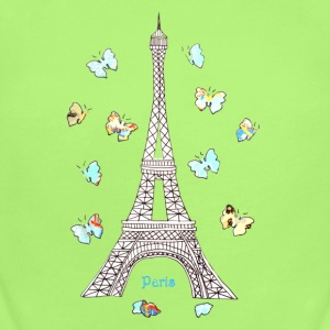 Paris Love Blue Butterflies Baby & Toddler Shirts - Short Sleeve Baby Bodysuit