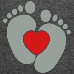 Baby heart feet Tanks - Women's Flowy Tank Top by Bella