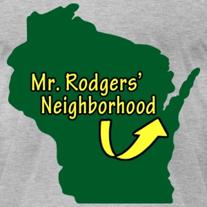 Mr Rodgers Milwaukee Mart T-Shirts - Men's T-Shirt by American Apparel