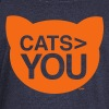 cats greater than you Cat Versus Humans mp Long Sleeve Shirts - Women's Wideneck Sweatshirt