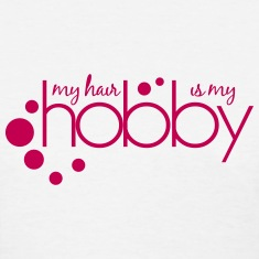 My Hair Is My Hobby Length Check T-Shirt