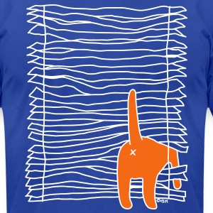 Window Cat Cat Versus Humans mp T-Shirts - Men's T-Shirt by American Apparel