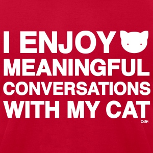 Meaningful Convos Cat Versus Humans mp T-Shirts - Men's T-Shirt by American Apparel