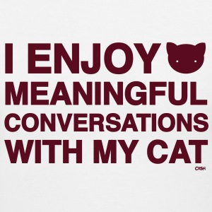 Meaningful Convos Cat Versus Humans mp Women's T-Shirts - Women's V-Neck T-Shirt