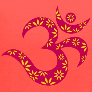 OM flower symbol, mantra, pattern, Aum, Buddhism, Tanks - Women's Flowy Tank Top by Bella