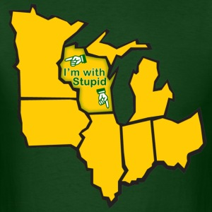 Im With Stupid Milwaukee Mart T-Shirts - Men's T-Shirt