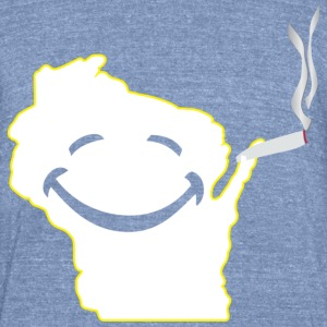 Happy Wisconsin Milwaukee Mart T-Shirts - Unisex Tri-Blend T-Shirt by American Apparel